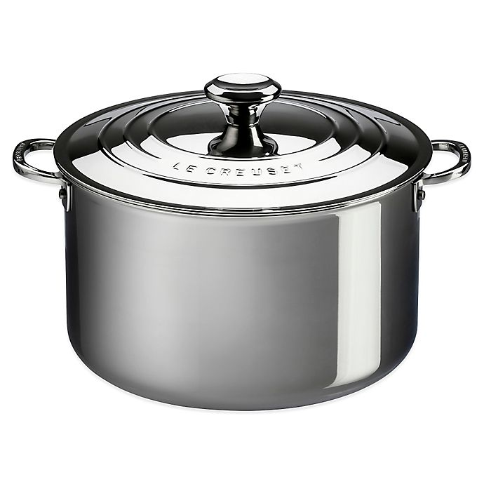 Alternate image 1 for Le Creuset® 4 qt. Tri-Ply Stainless Steel Covered Casserole