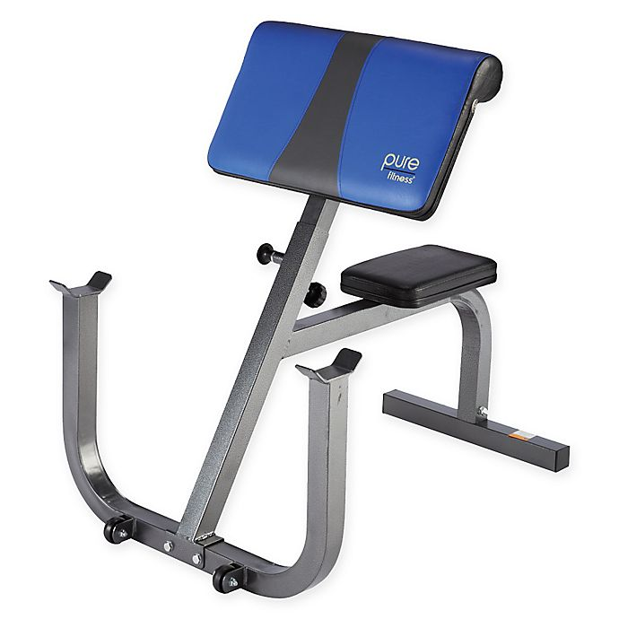 Remarkable Pure Fitness Preacher Curl Bench In Blue Bed Bath Beyond Unemploymentrelief Wooden Chair Designs For Living Room Unemploymentrelieforg