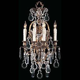 Metropolitan 4-Light Vintage Wall Sconce in Brass