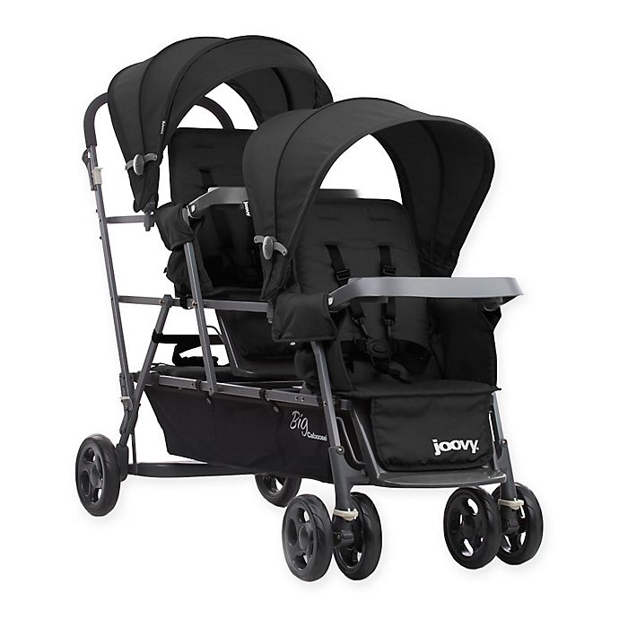 Alternate image 1 for Joovy® Big Caboose Graphite Stand-On Triple Stroller in Black