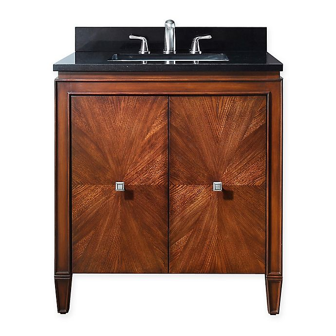 Alternate image 1 for Avanity Brentwood 31-Inch Single Vanity in New Walnut with Stone Top