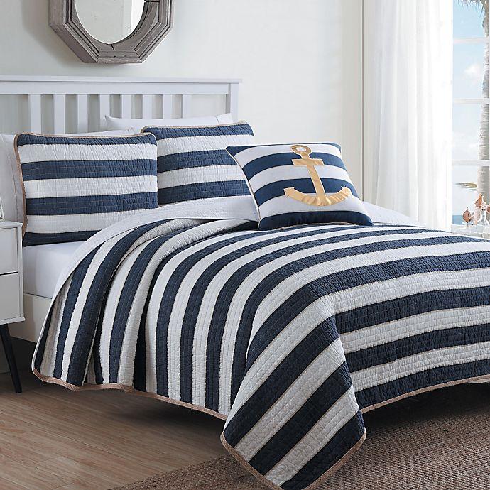 Estate Hampton Quilt Set In Navy White Bed Bath Amp Beyond