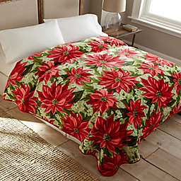 Poinsettia Luxury Oversized Queen Blanket