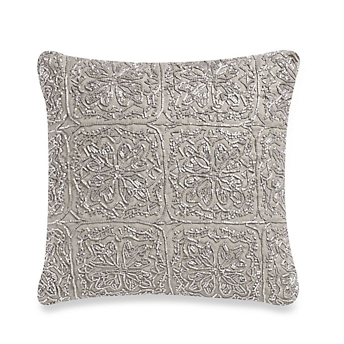 Alternate image 1 for Wamsutta® Vintage Cotton Cashmere 12-Inch Square Throw Pillow in Oatmeal