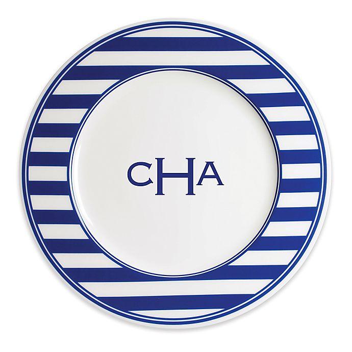Alternate image 1 for Caskata Beach Towel Stripe Dinner Plate
