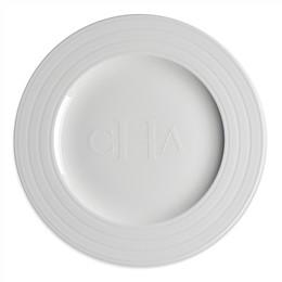 Caskata Cambridge Stripe Charger Plate
