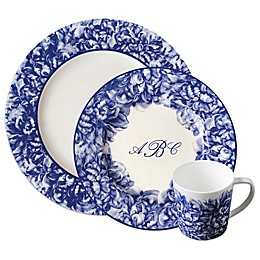 Caskata Peony Dinnerware Collection in Blue