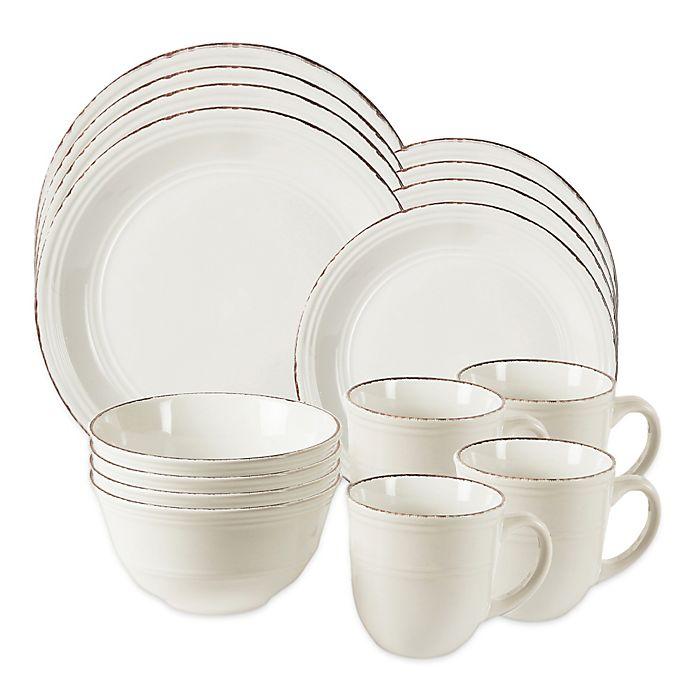 Alternate image 1 for American Atelier Madelyn 16-Piece Dinnerware Set in White