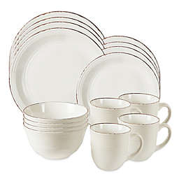 American Atelier Madelyn 16-Piece Dinnerware Set in White