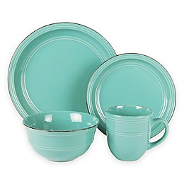 American Atelier Madelyn 16-Piece Dinnerware Set in Aqua