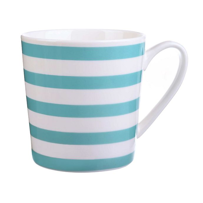 Alternate image 1 for Formations Striped Mug in Turquoise