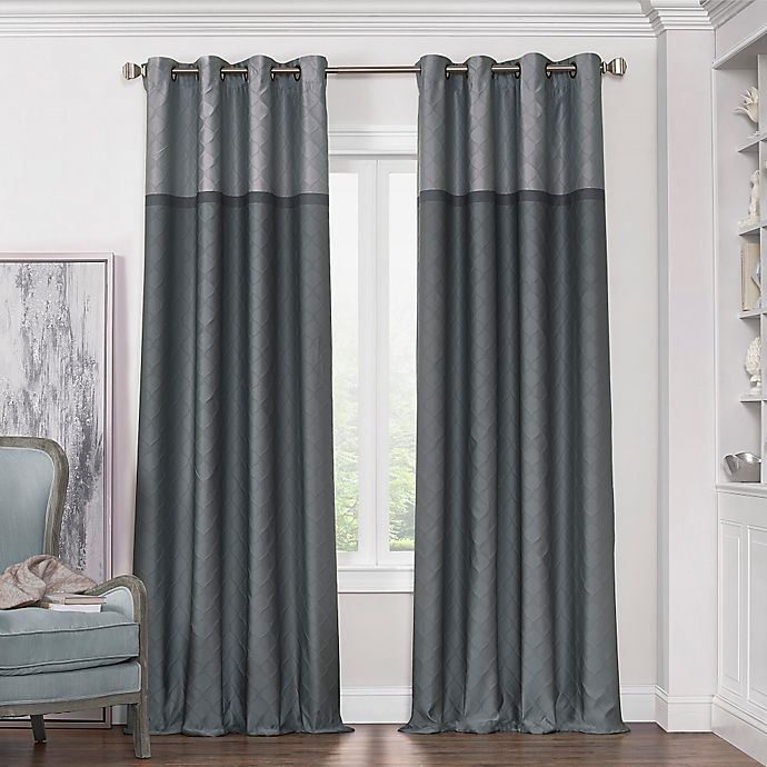 Alternate image 1 for Solar Shield Haledon 95-Inch Grommet Room Darkening Window Curtain Panel in Grey