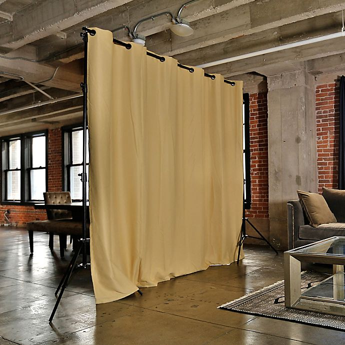 Alternate image 1 for RoomDividersNow X-Large Freestanding Room Divider Kit A with 8-Foot Curtain Panel in Gold
