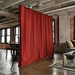 RoomDividersNow Freestanding Room Divider Kit with 9-Foot Tall Curtain Panel (B)