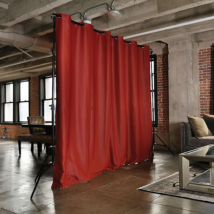 Alternate image 1 for RoomDividersNow X-Large Freestanding Room Divider Kit B with 9-Foot Curtain Panel in Red