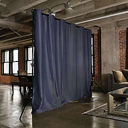 RoomDividersNow Freestanding Room Divider Kit with 8-Foot Tall Curtain Panel (A)