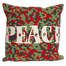 Visions II Peace Square Throw Pillow in Red