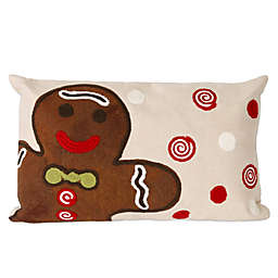 Visions II Ginger Boy Oblong Throw Pillow in Chocolate