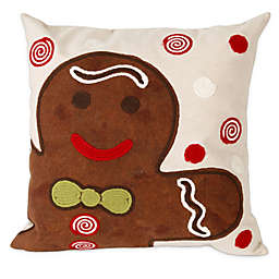 Visions II Ginger Boy Square Throw Pillow in Chocolate