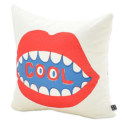 Deny Designs Nick Nelson Cool Mouth Square Throw Pillow