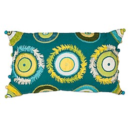 Kas® Circles Oblong Throw Pillow in Aqua Multi