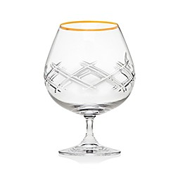 Top Shelf Bevel Brandy Glasses in Gold (Set of 2)