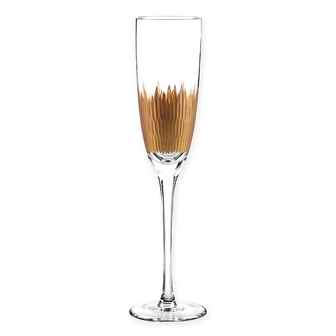 Alternate image 1 for Qualia Lava Champagne Flutes in Gold (Set of 4)