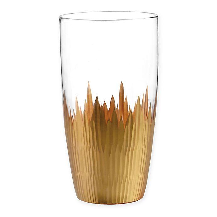 Alternate image 1 for Qualia Lava Highball Glasses in Gold (Set of 4)