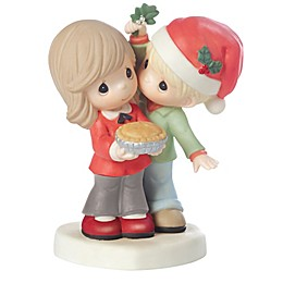 Precious Moments® Merry Kissmas, Sweetie Pie Couple with Mistletoe Figurine