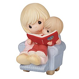 Precious Moments® I Cherish Our Christmas Together Mom Reading to Child Figurine