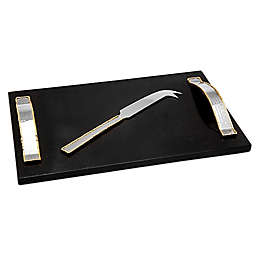 Godinger Artisan Loft Leaf Marble Cheese Board with Knife