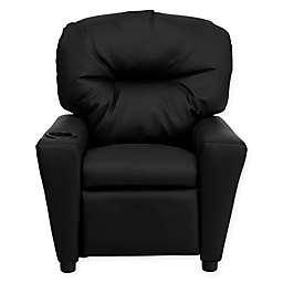 Flash Furniture Leather Kids Recliner with Cup Holder