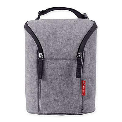 Skip*Hop® Grab & Go Double Bottle Bag in Heather Grey