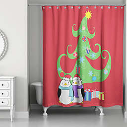 Holiday Fun Shower Curtain in Red/Green