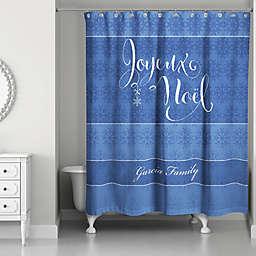Snowflake Joy Shower Curtain In Blue White