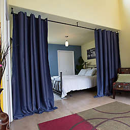 RoomDividersNow Hanging Room Divider Kit A with 8-Foot Tall Curtain Panel (A)