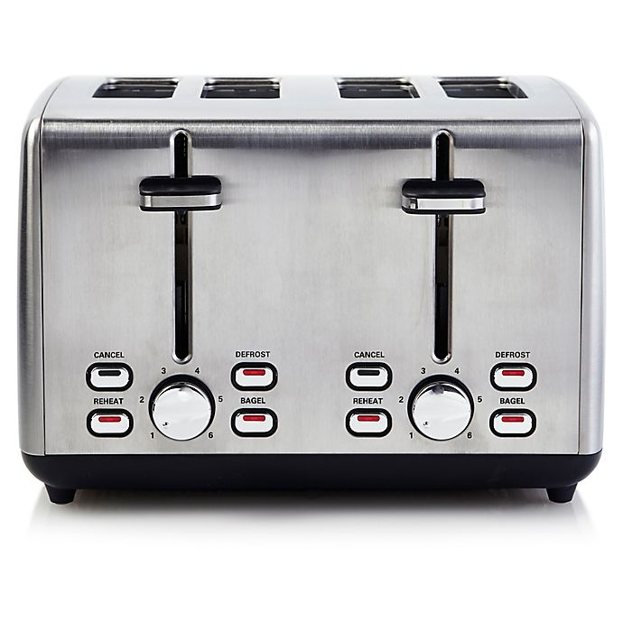 Alternate image 1 for Professional Series® 4-Slice Stainless Steel Wide Slot Toaster