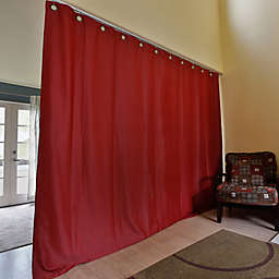 RoomDividersNow Ceiling Track Room Divider Kit B with 9-Foot Tall Curtain Panel (B)