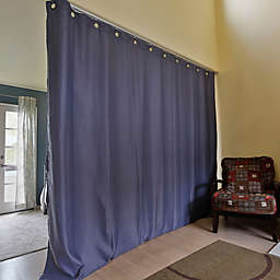 RoomDividersNow Ceiling Track Room Divider Kit with 8-Foot Tall Curtain Panel (A)