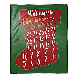 Christmas Countdown Throw Blanket in Red/Green