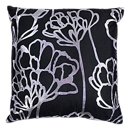 Kas Blossom 18-Inch Square Throw Pillow in Black