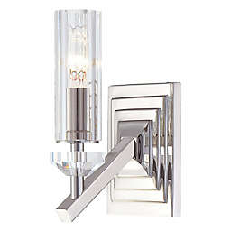 Metropolitan® Fusano 1-Light Wall Sconce in Polished Nickel with Glass Shade