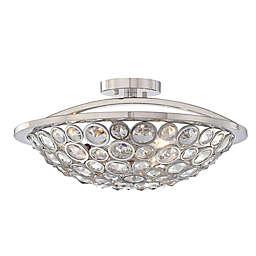 Metropolitan Home Magique 3-Light Semi-Flush Mount Ceiling Fixture in Polished Nickel