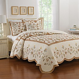 Nostalgia Home™ Caroline Bedspread in Beige/Brown