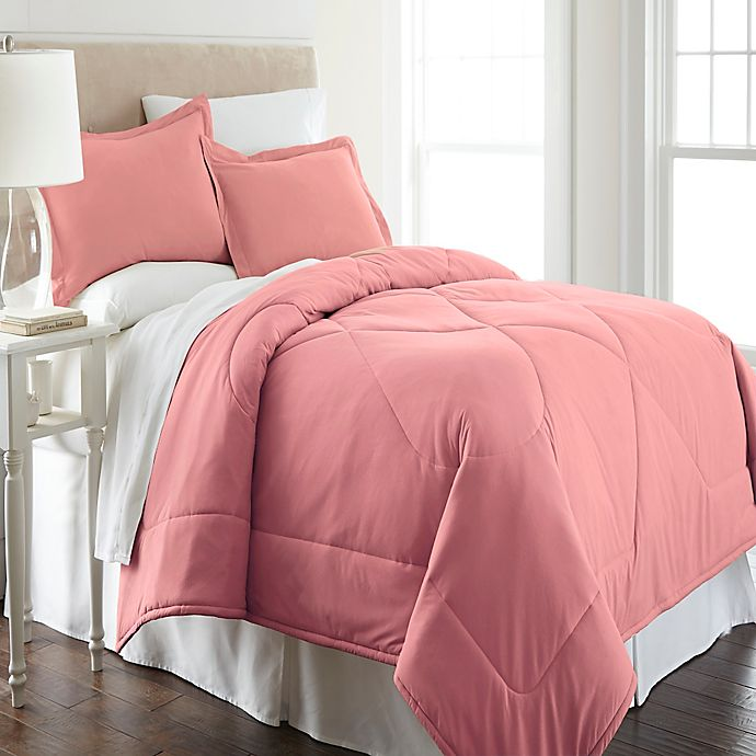 Alternate image 1 for Micro Flannel® King Comforter Set in Frosted Rose