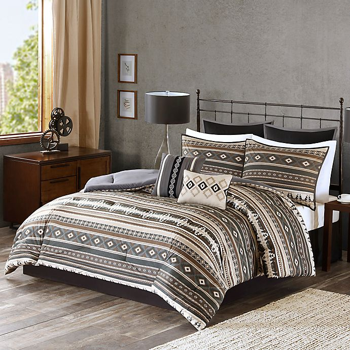 Alternate image 1 for Tao Comforter Set in Brown