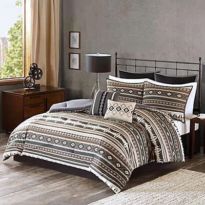 Tao Comforter Set in Brown
