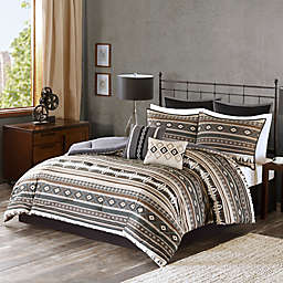 Tao Comforter Set in Brown
