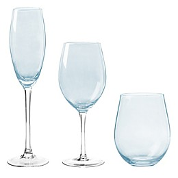 Qualia Radiance Wine Glass Collection in Luster Blue