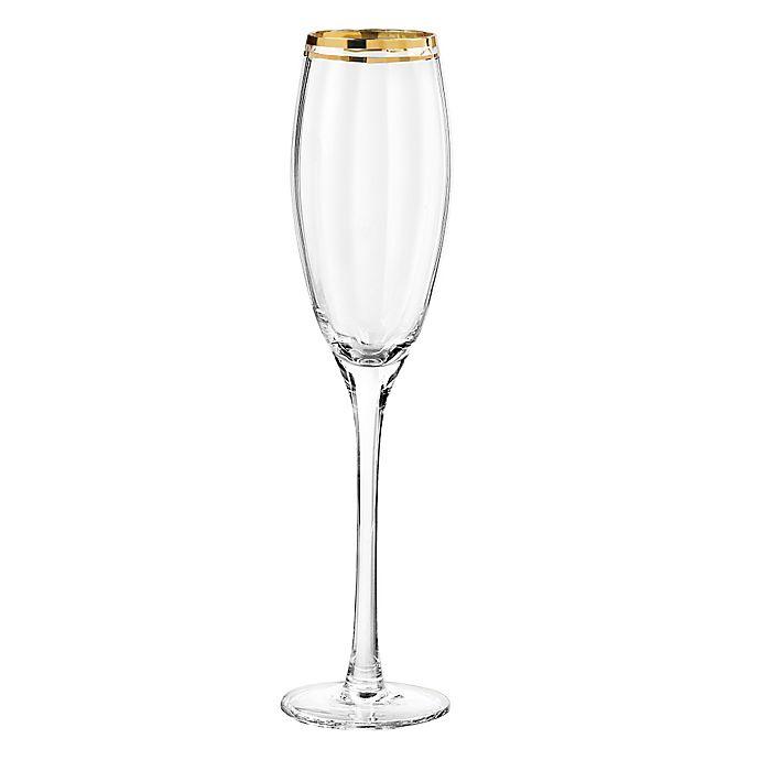Alternate image 1 for Qualia Tivoli Gold Champagne Flutes (Set of 4)